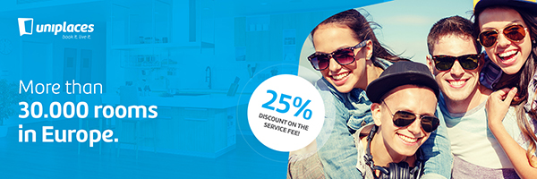 Uniplaces - 25% discount on the service fee